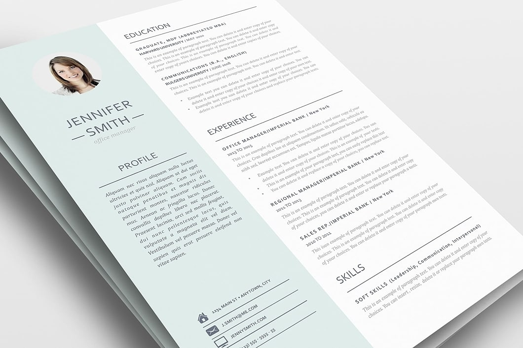 Resume Template 110980 0