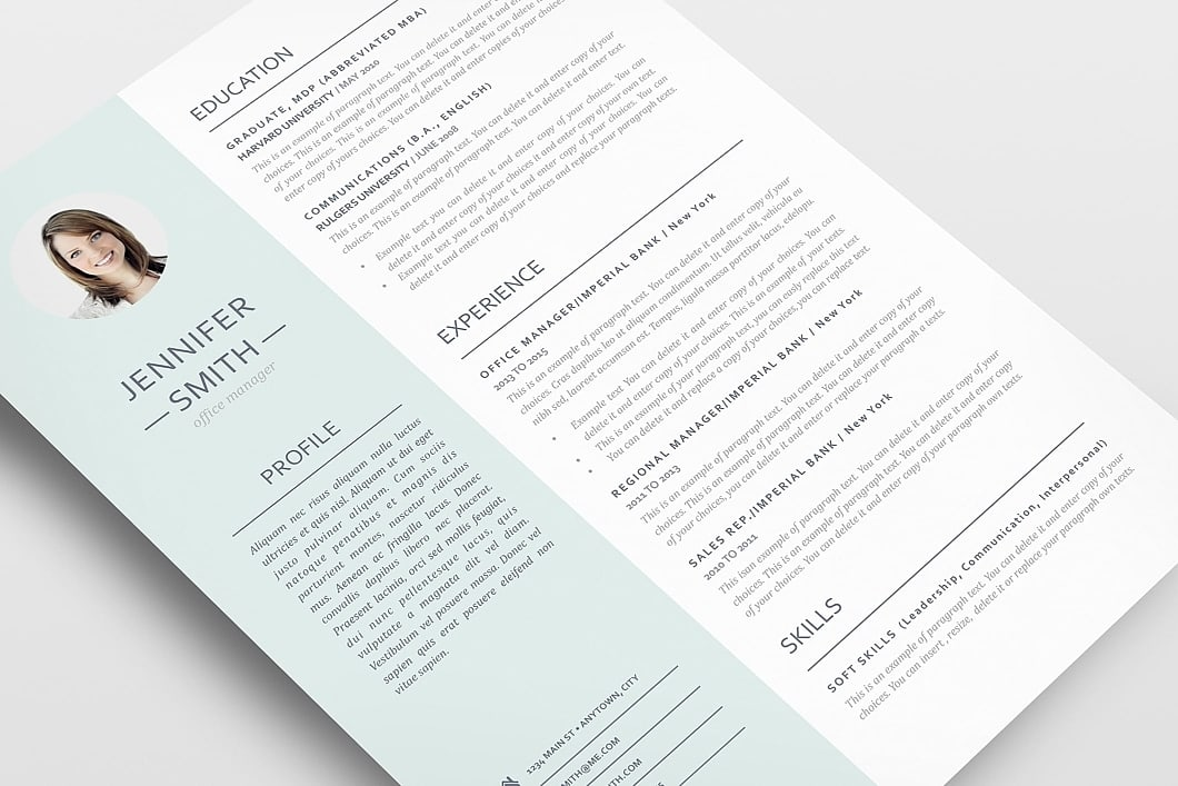 Resume Template 110980 3