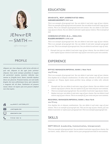 Resume Template 110980