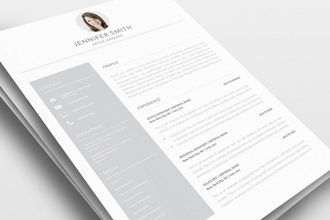 Resume Template 110990 0