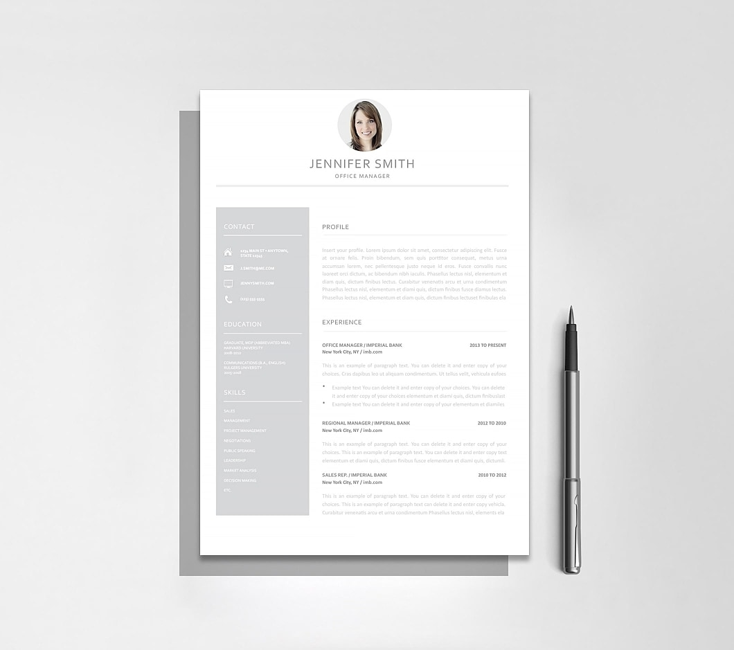 Resume Template 110990 2