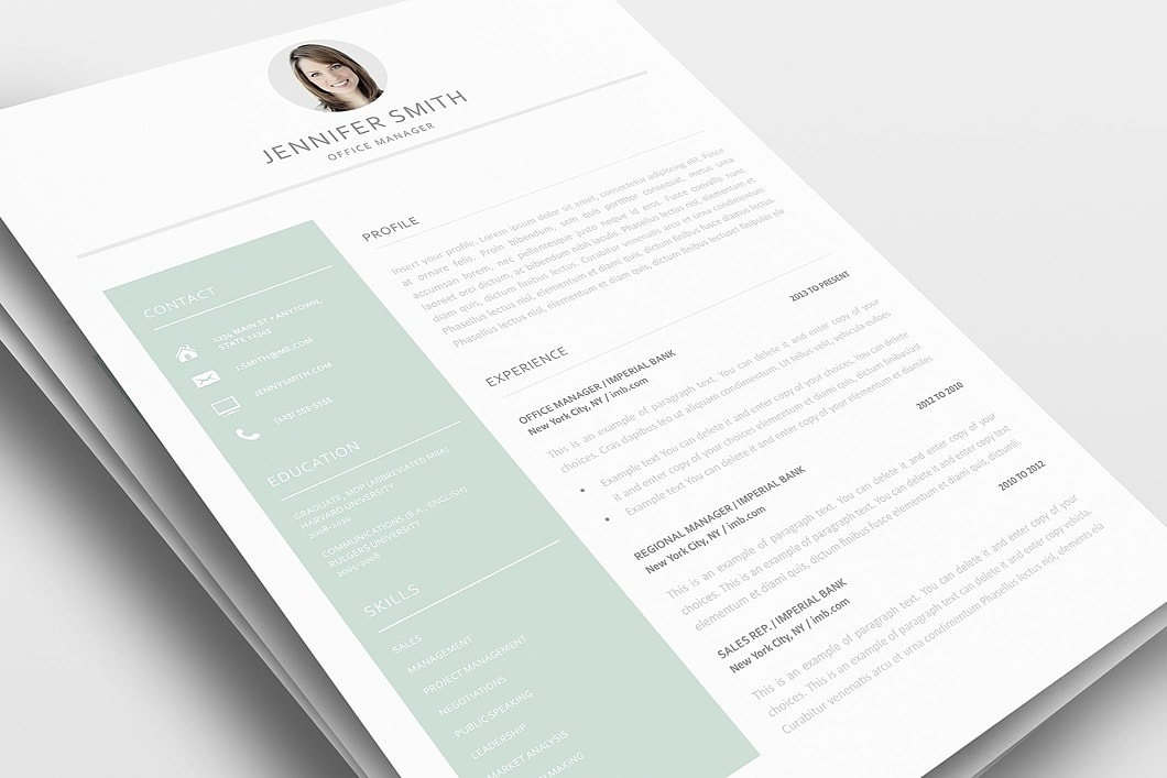Resume Template 120010 0
