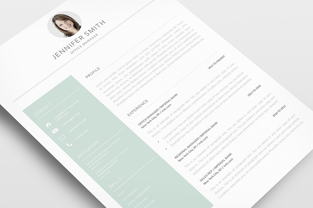 Resume Template 120010 3