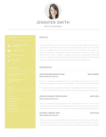 Resume Template 120020