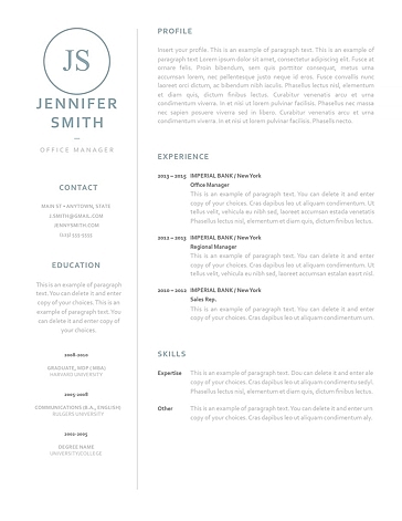 Classic Resume Template 120040