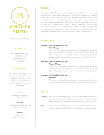 Classic Resume Template 120050