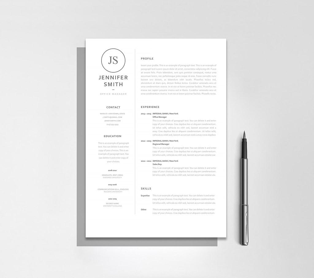 Classic Resume Template 120060