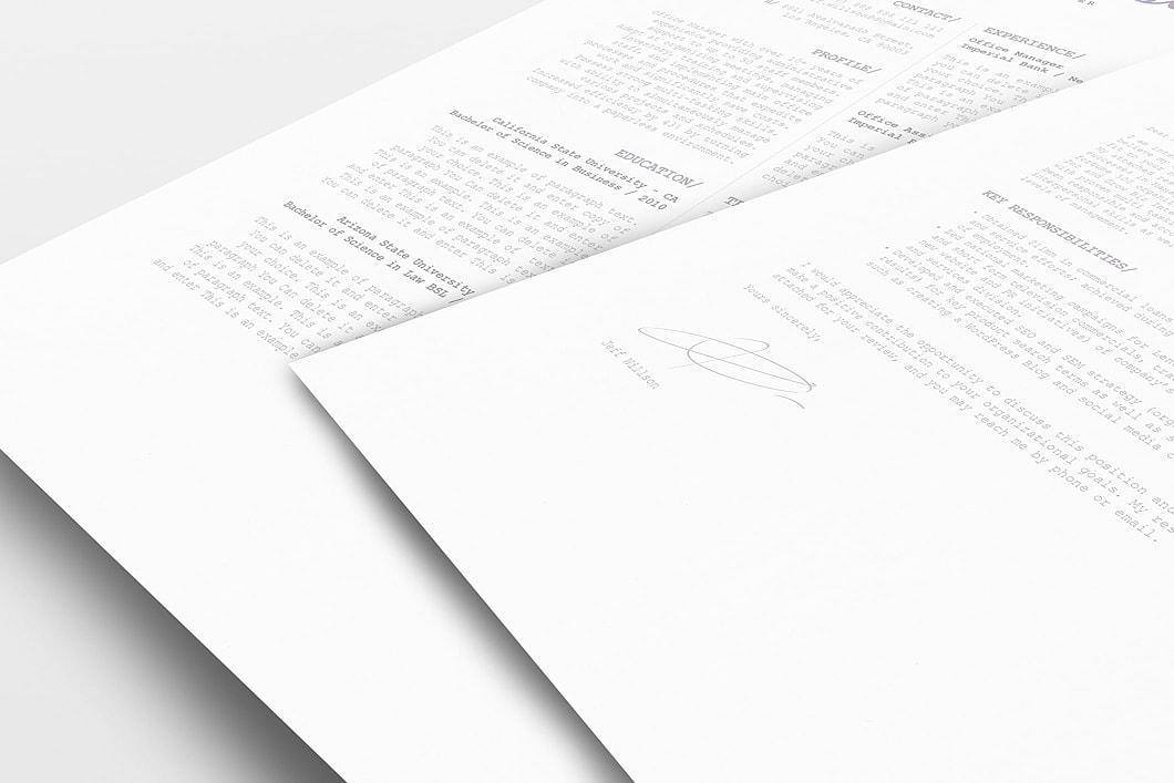 Resume Template 120110 1