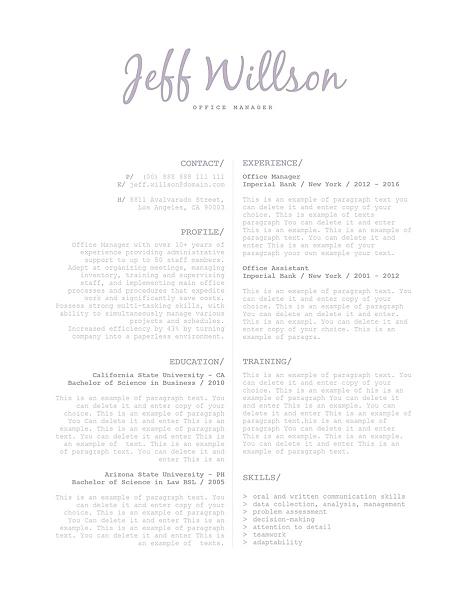 Elegant Resume Template 120110