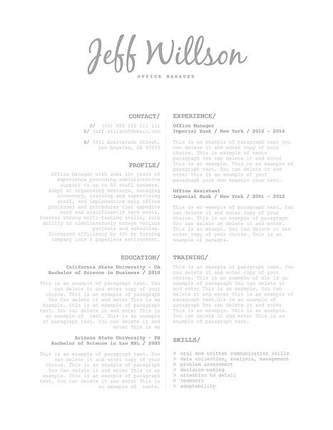 Elegant Resume Template 120120