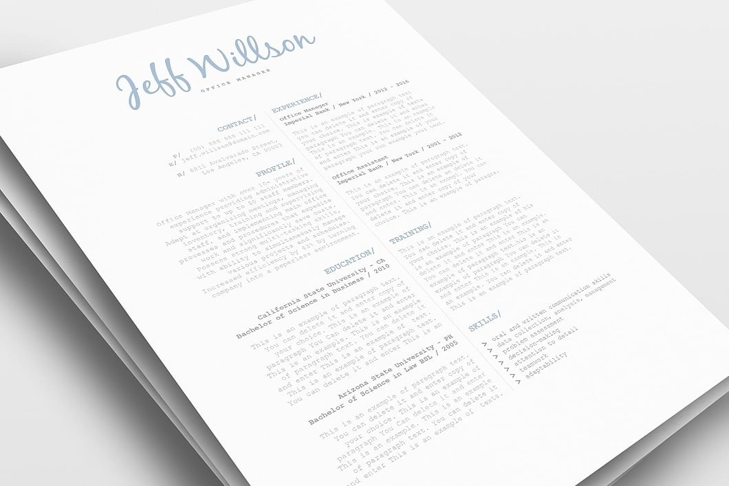 Resume Template 120130 0
