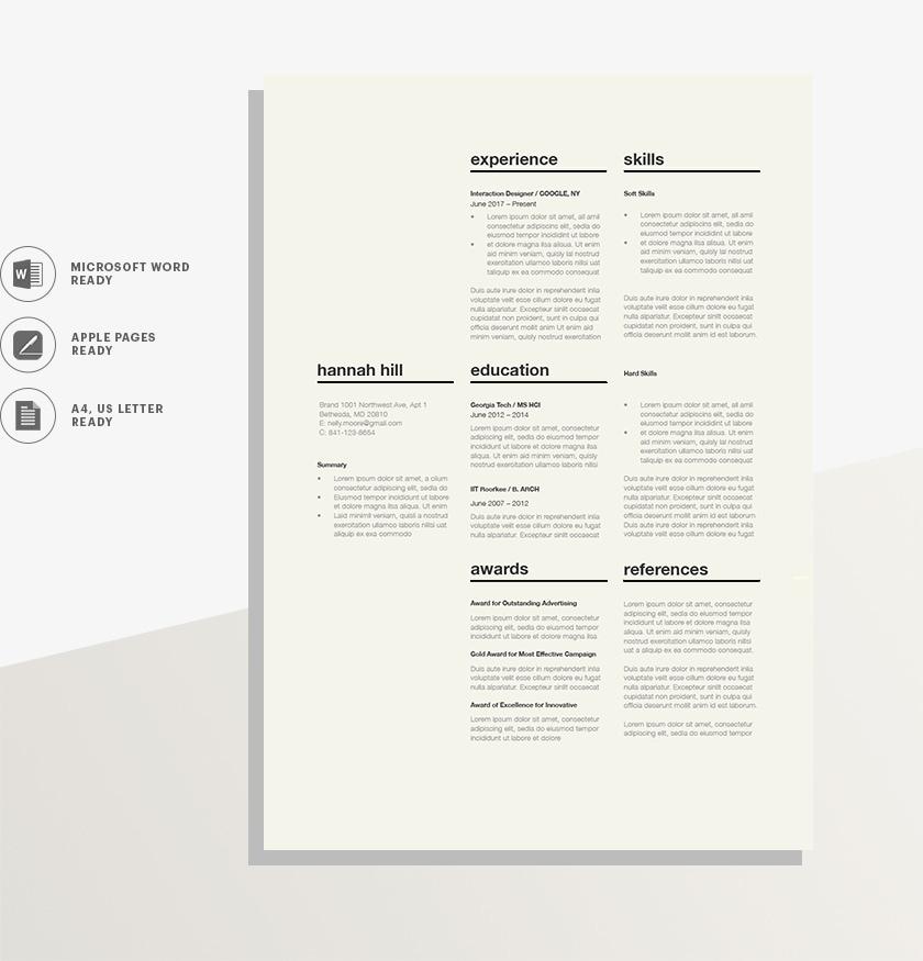 Resume Template 120350