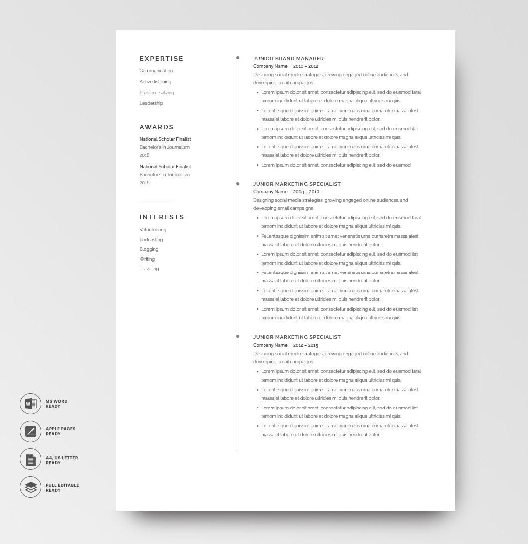 Resume Template Elegant 120870 2page