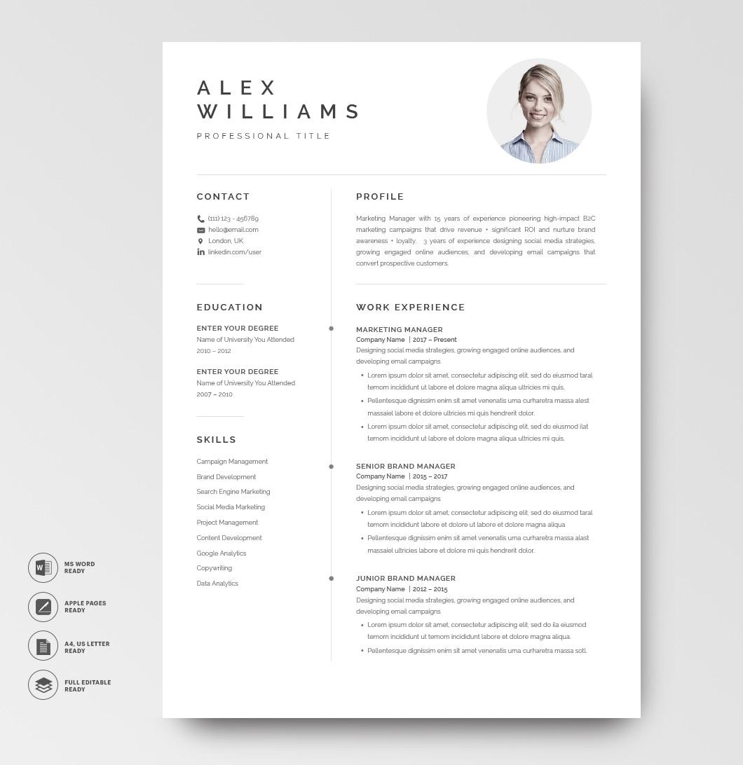 Resume Template Elegant 120870 Resume