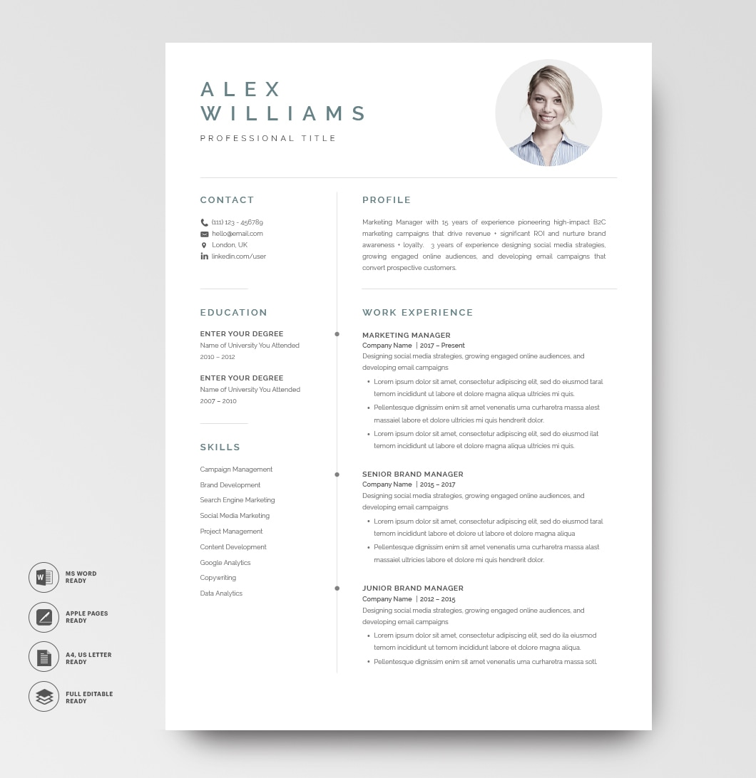 Resume Template Elegant 120890 5