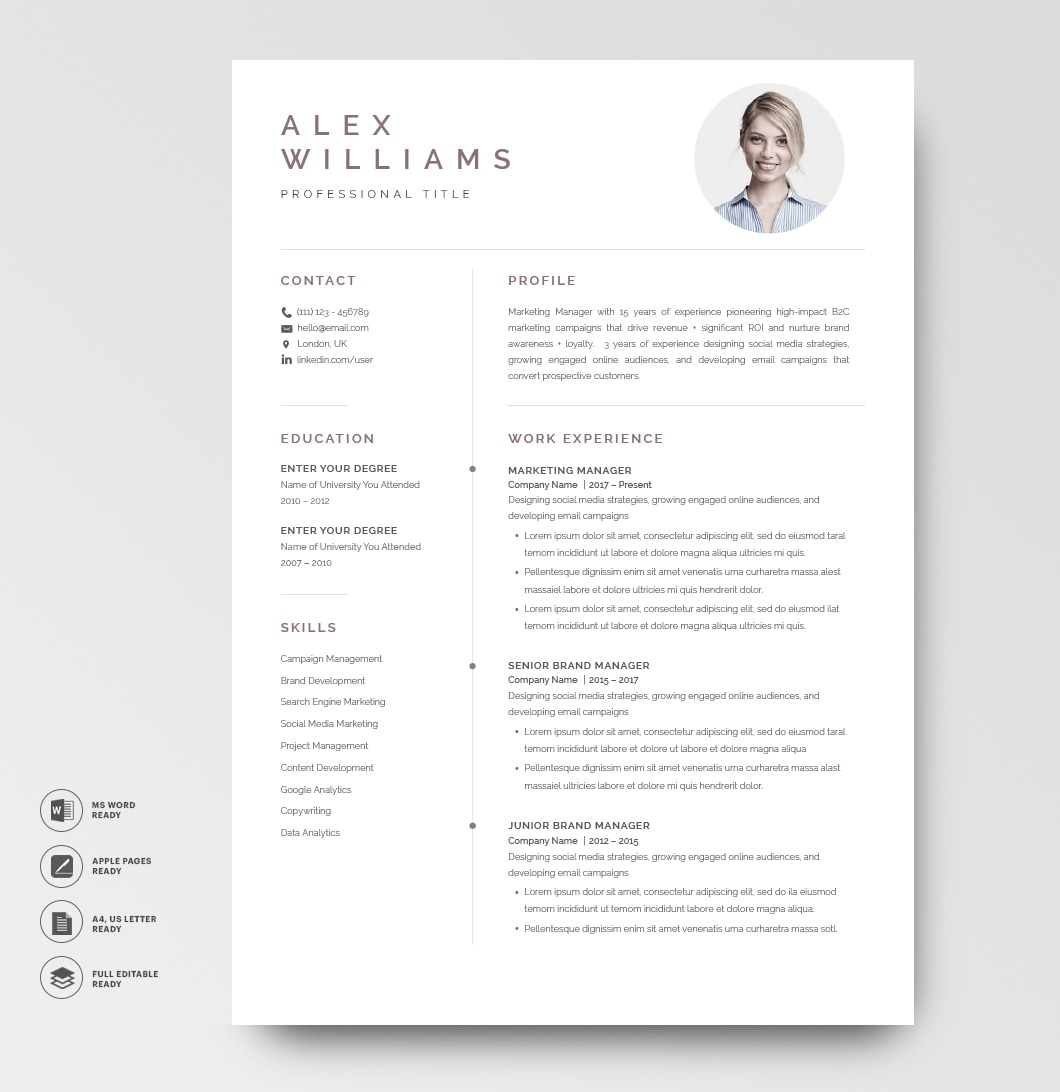 Resume Template Elegant 120900 5