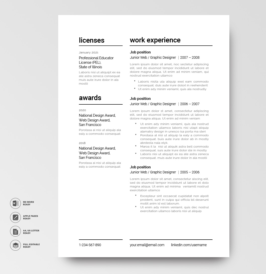 Resume Template Modern 120910 4