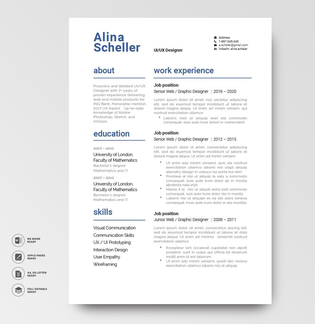 Resume Template Modern 120920 5