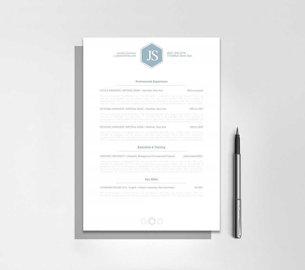 Resumeway Classic Resume Template 110600