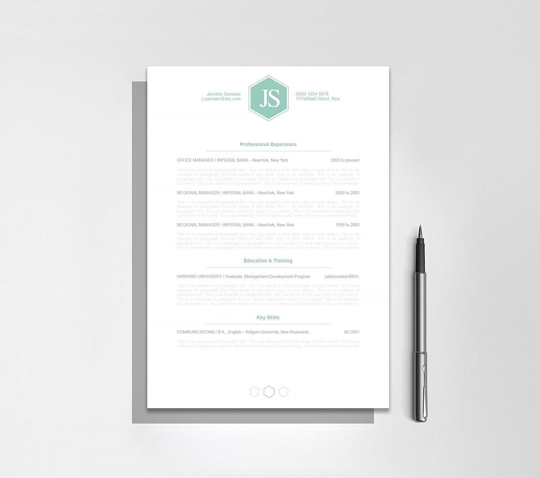 Resumeway Classic Resume Template 110620