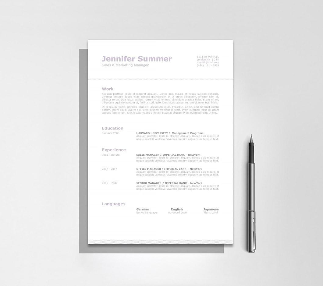 Resumeway Classic Resume Template 110710
