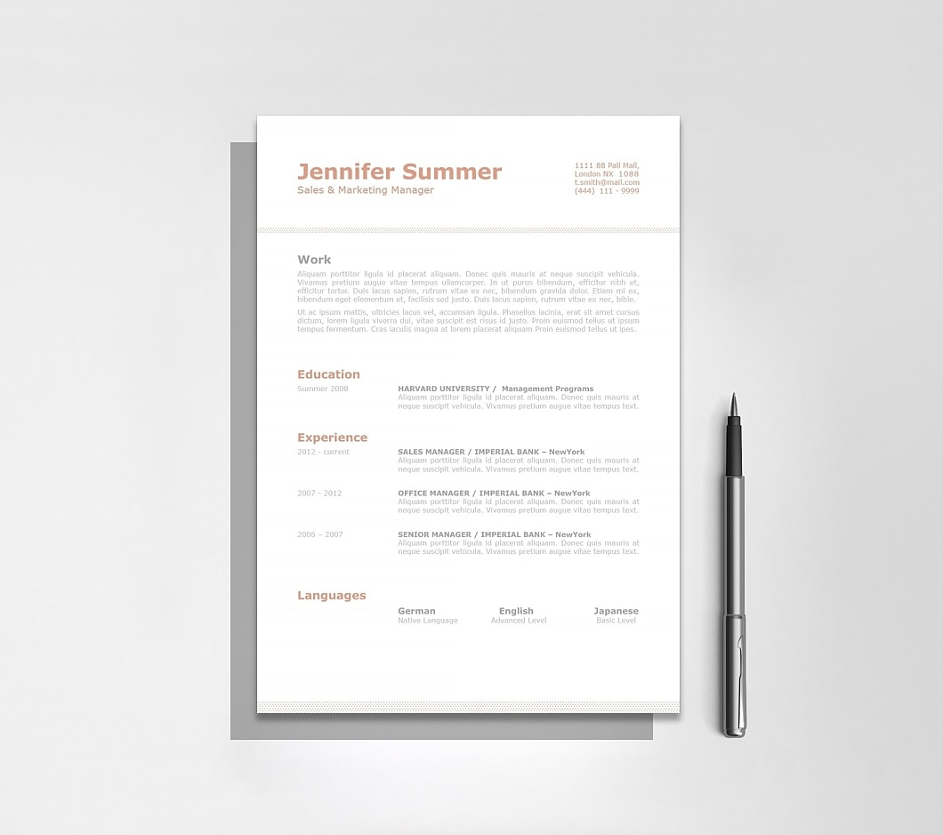 Resumeway Classic Resume Template 110740