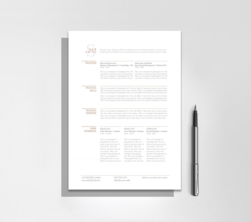 Resumeway Classic Resume Template 110750