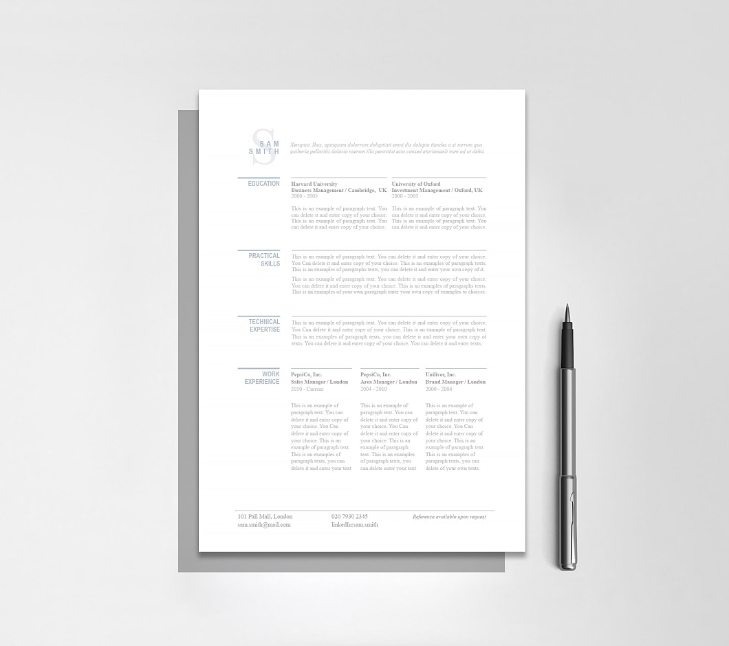 Resumeway Classic Resume Template 110760 4