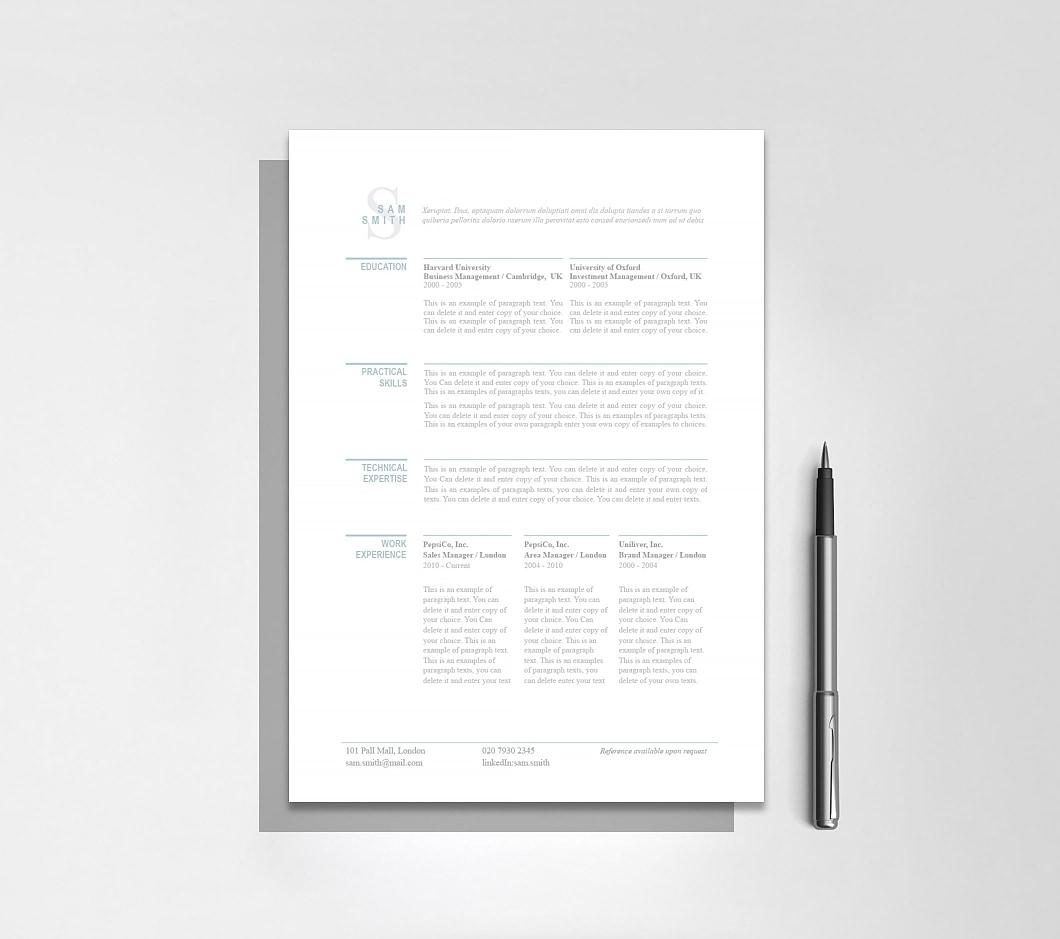 Resumeway Classic Resume Template 110780