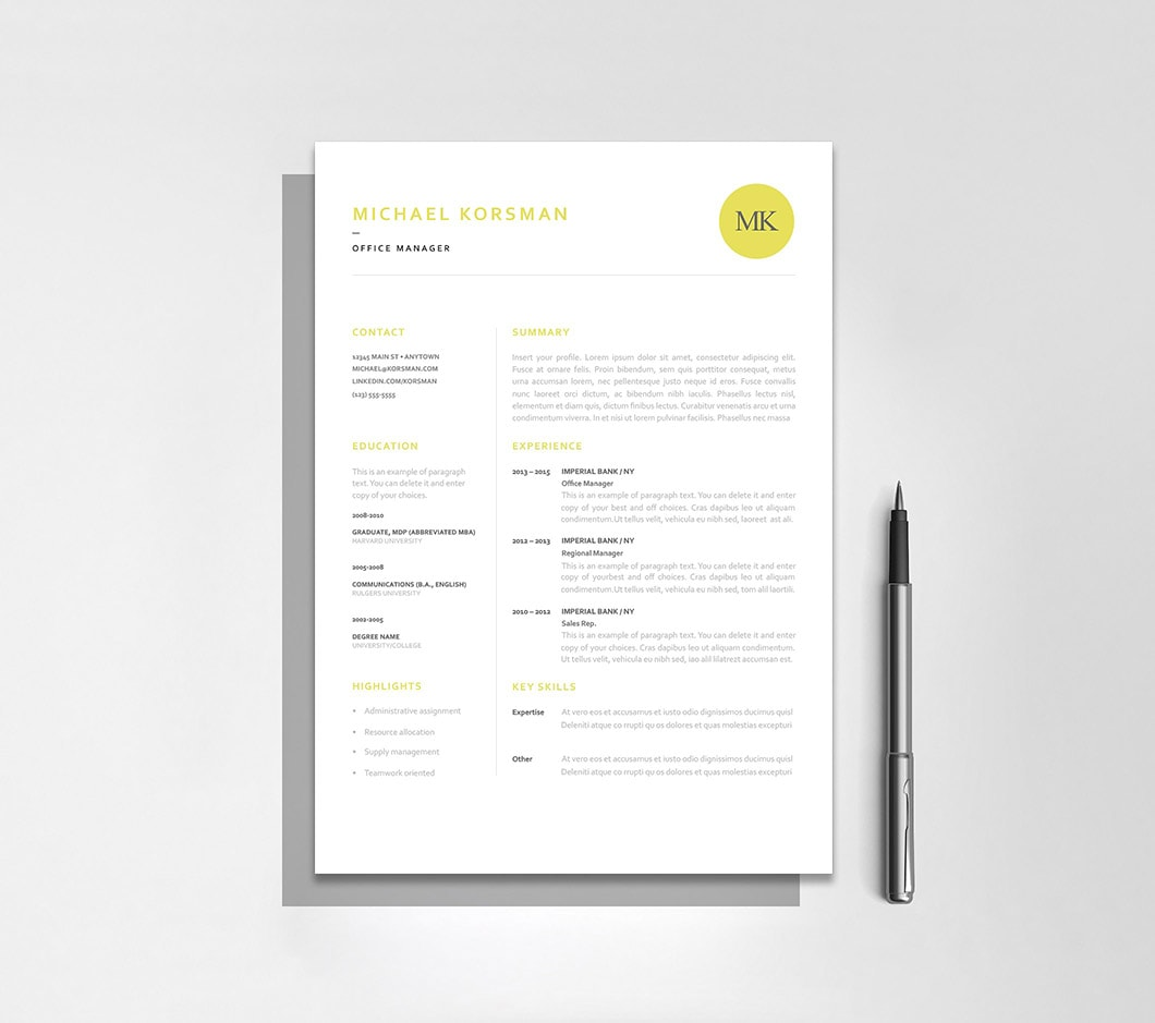 Resumeway Classic Resume Template 120200