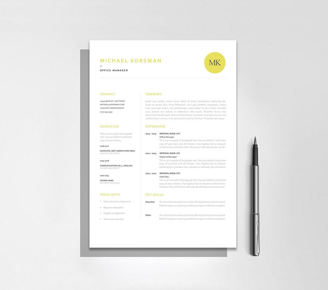 Resumeway Classic Resume Template 120200
