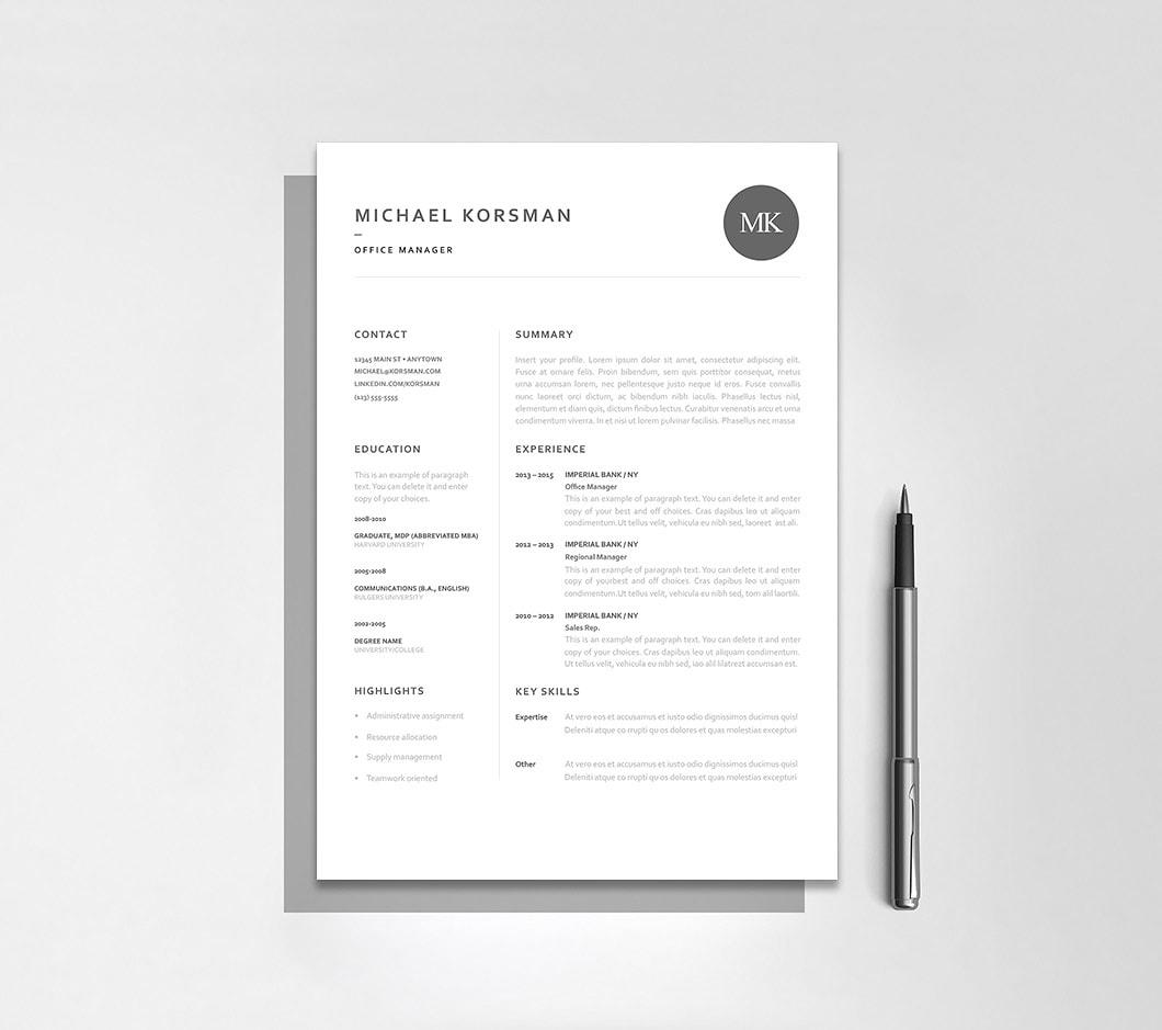 Resumeway Classic Resume Template 120220
