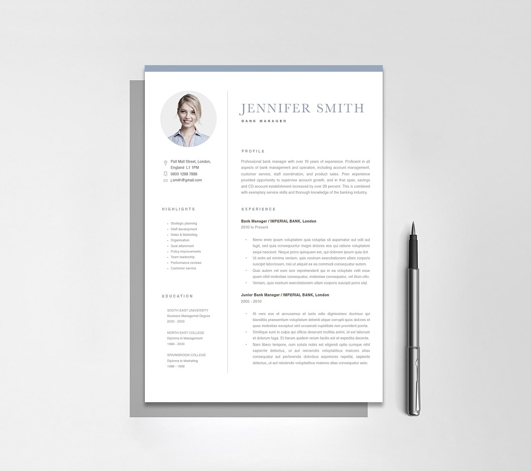 Resumeway Classic Resume Template 120270