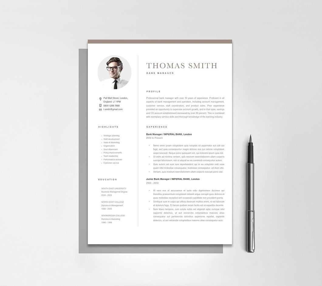 Resumeway Classic Resume Template 120280