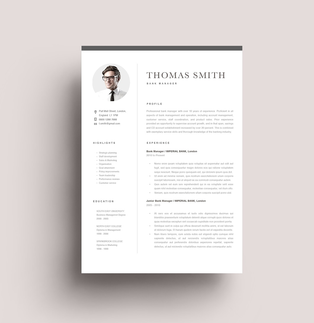 Resumeway Classic Resume Template 120290
