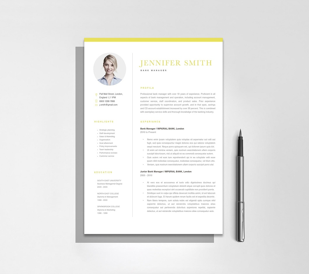 Resumeway Classic Resume Template 120300