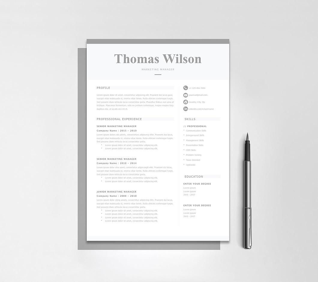 Resumeway Classic Resume Template 120310