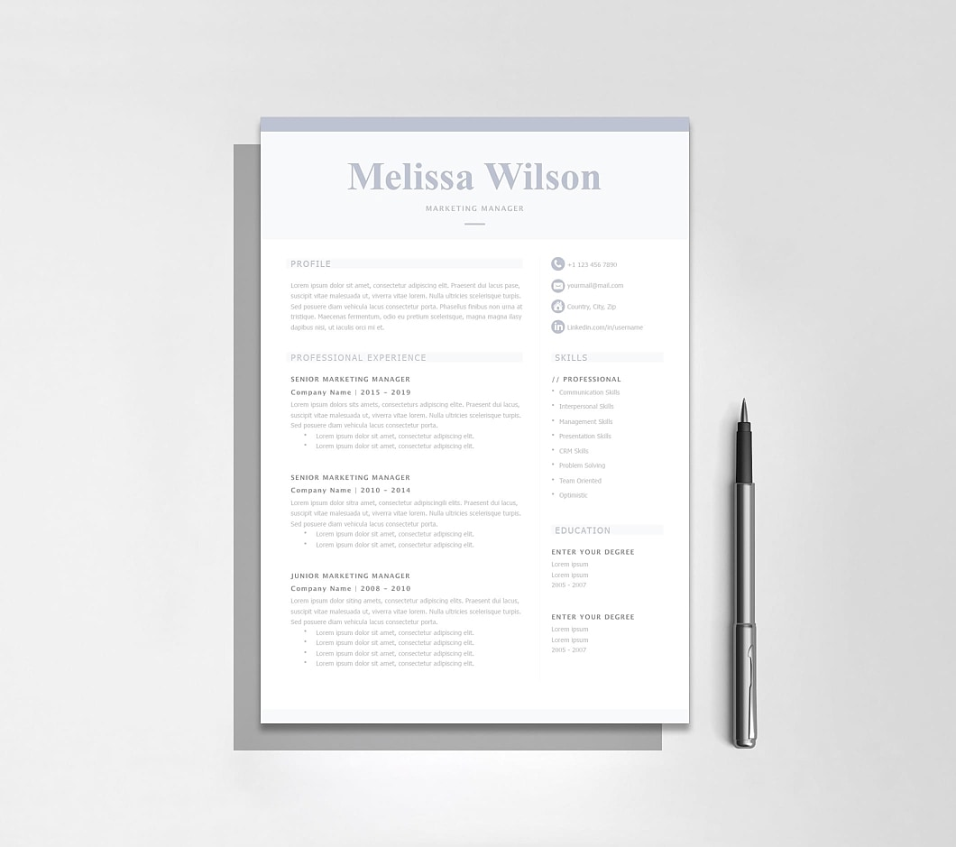 Resumeway Classic Resume Template 120320