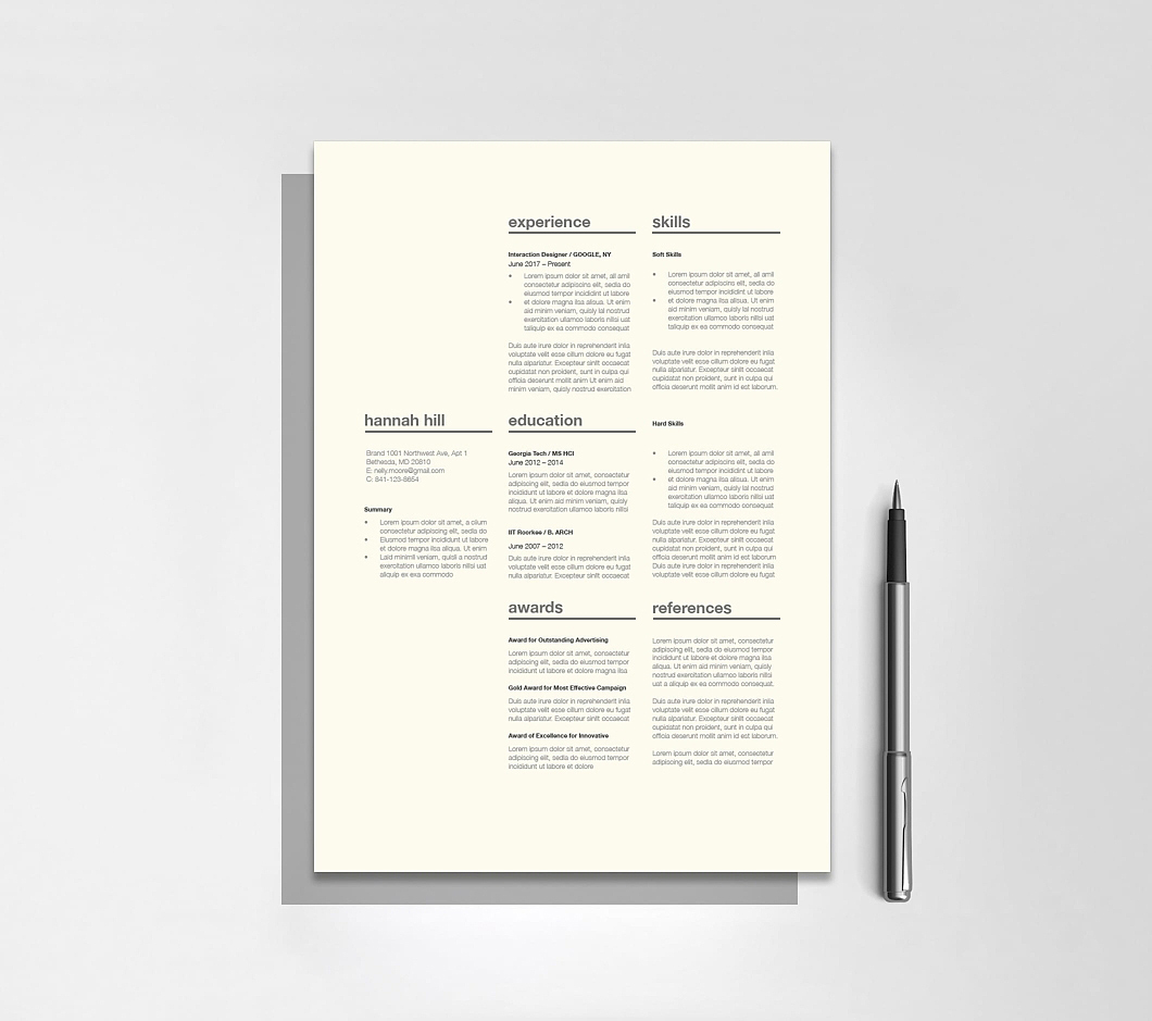 Resumeway Classic Resume Template 120360