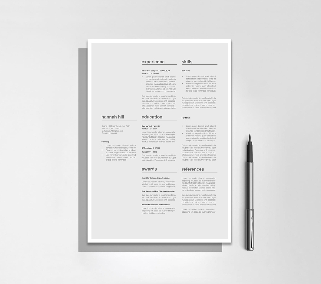 Resumeway Classic Resume Template 120370