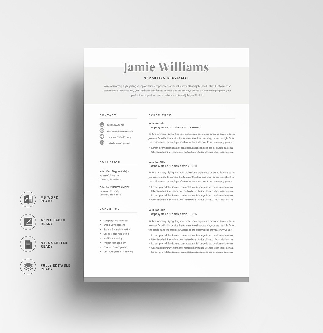 Resumeway Classic Resume Template 120590
