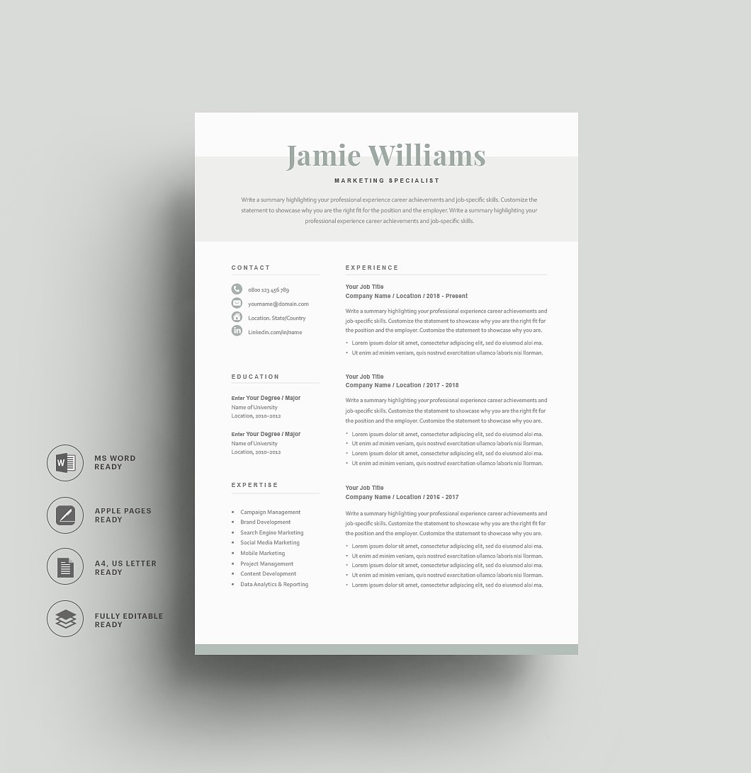 Resumeway Classic Resume Template 120610