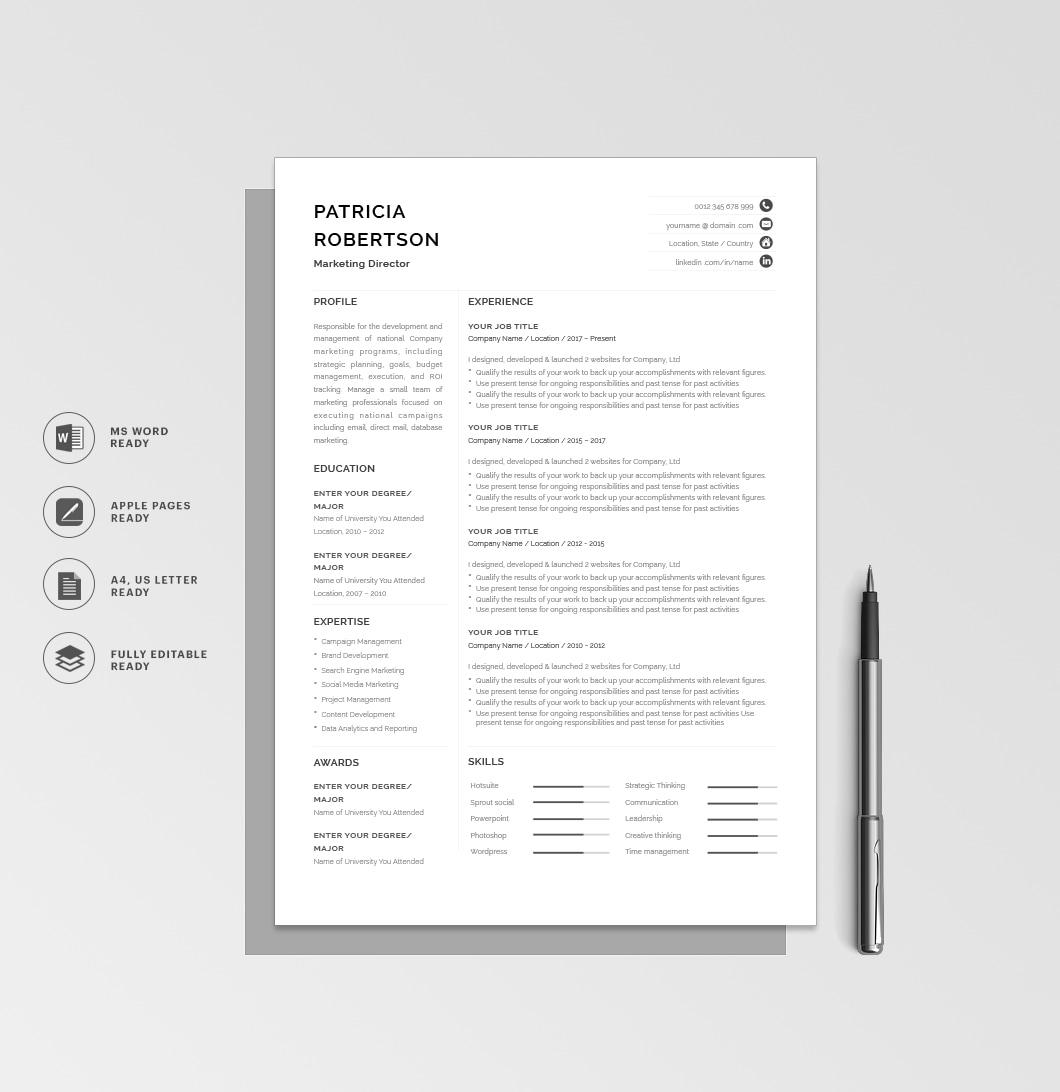 Resumeway Classic Resume Template 120670