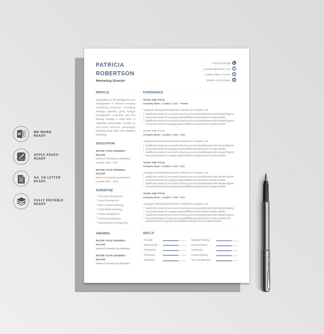 Resumeway Classic Resume Template 120680