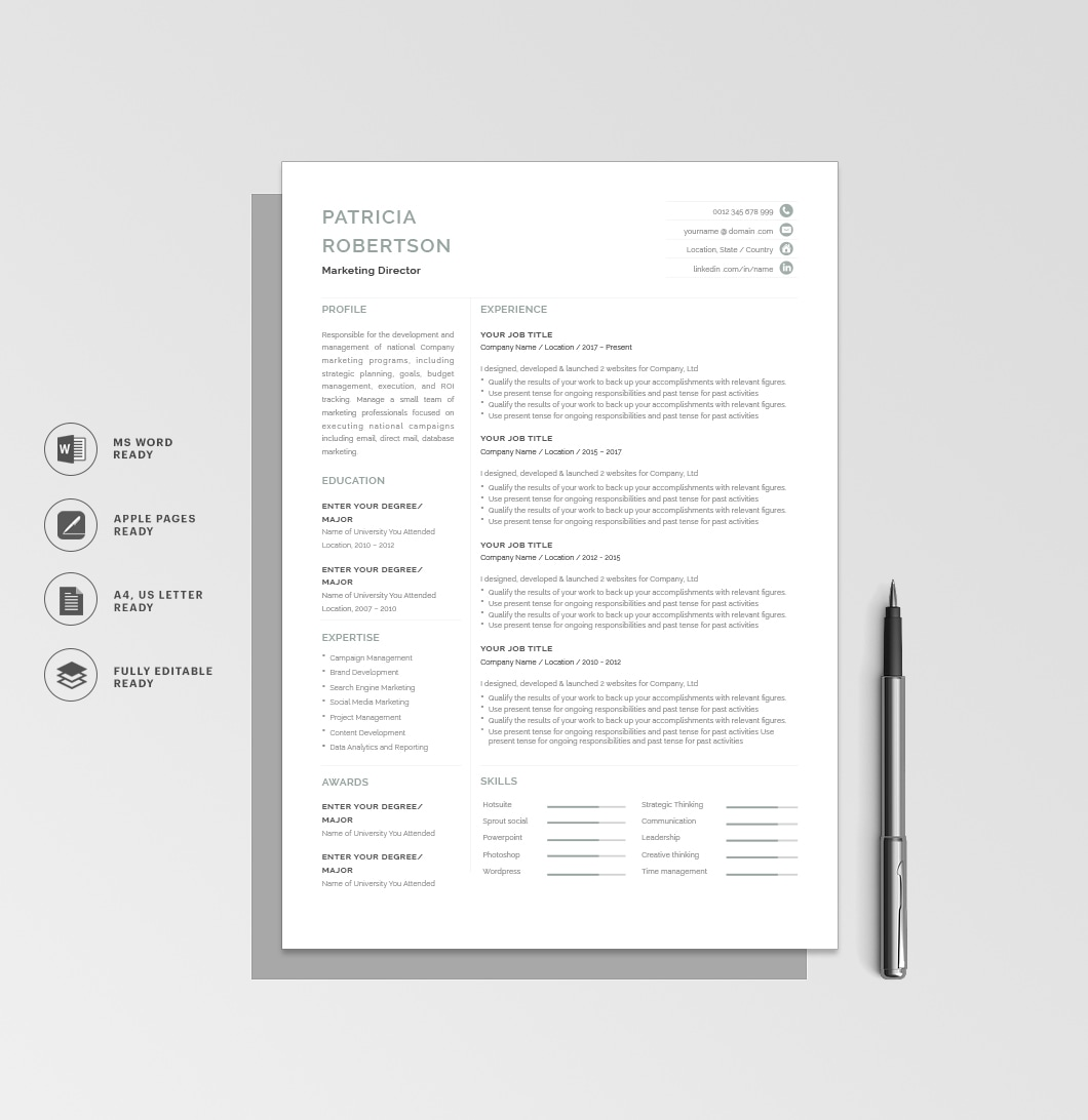 Resumeway Classic Resume Template 120690