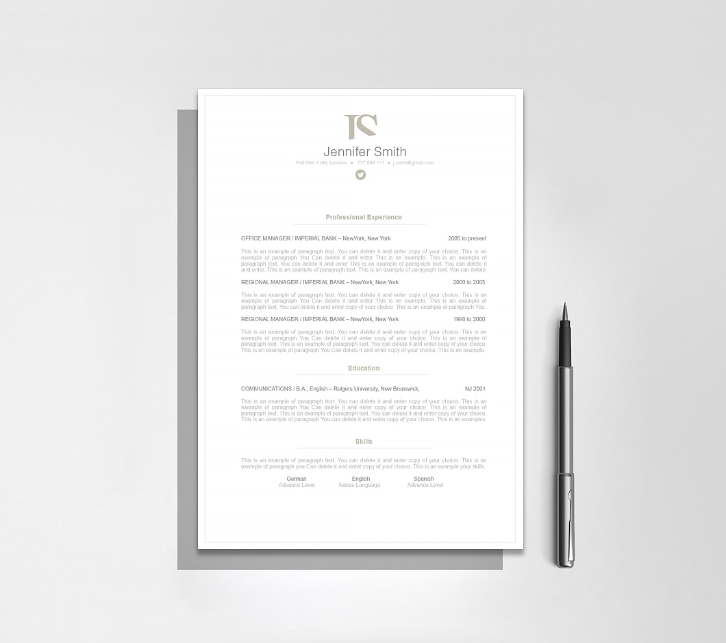 Resumeway Elegant Resume Template 110850
