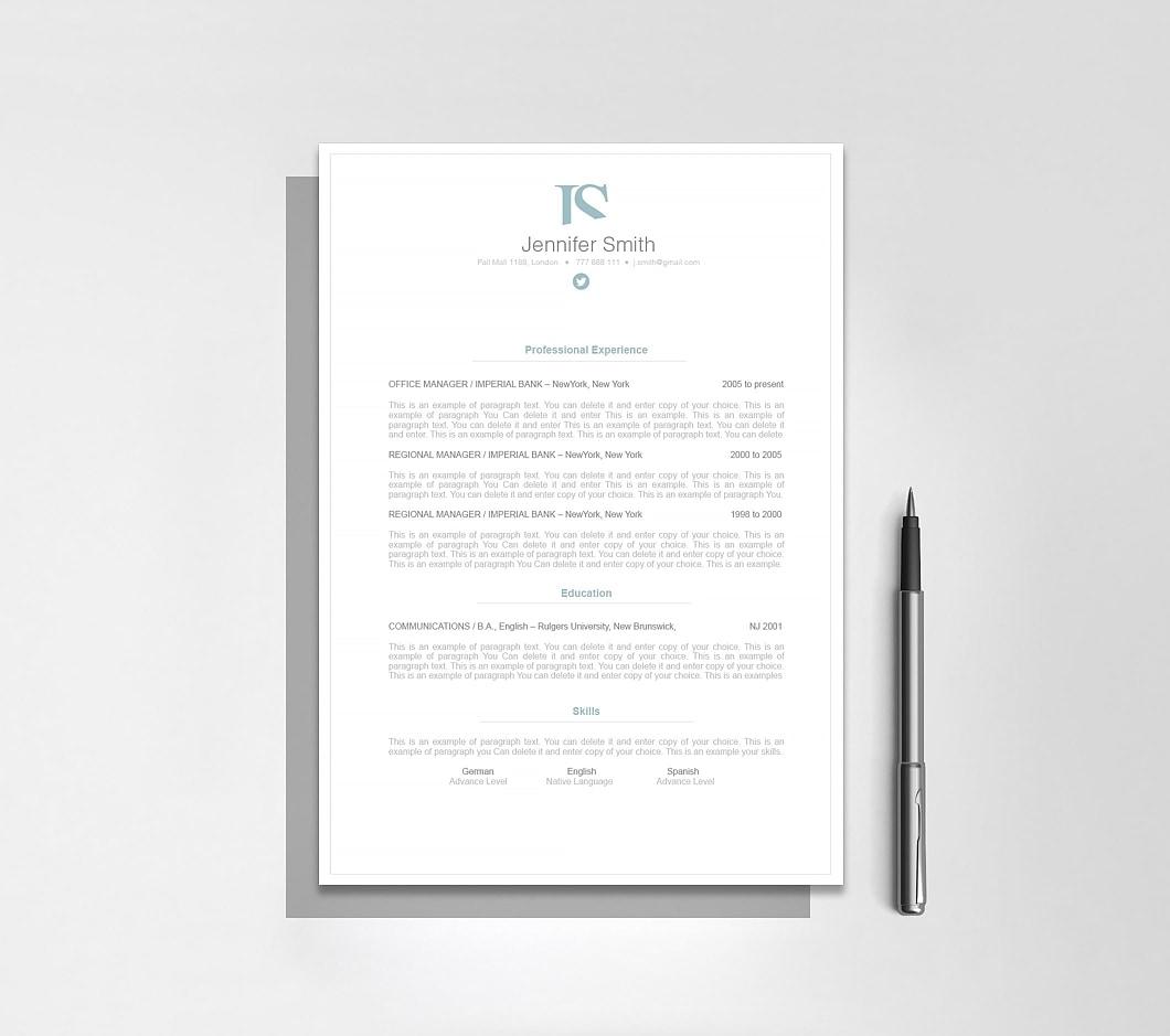 Resumeway Elegant Resume Template 110860