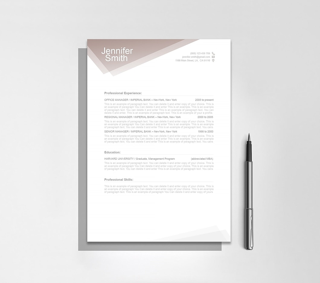 Resumeway Free Resume Template 1100010