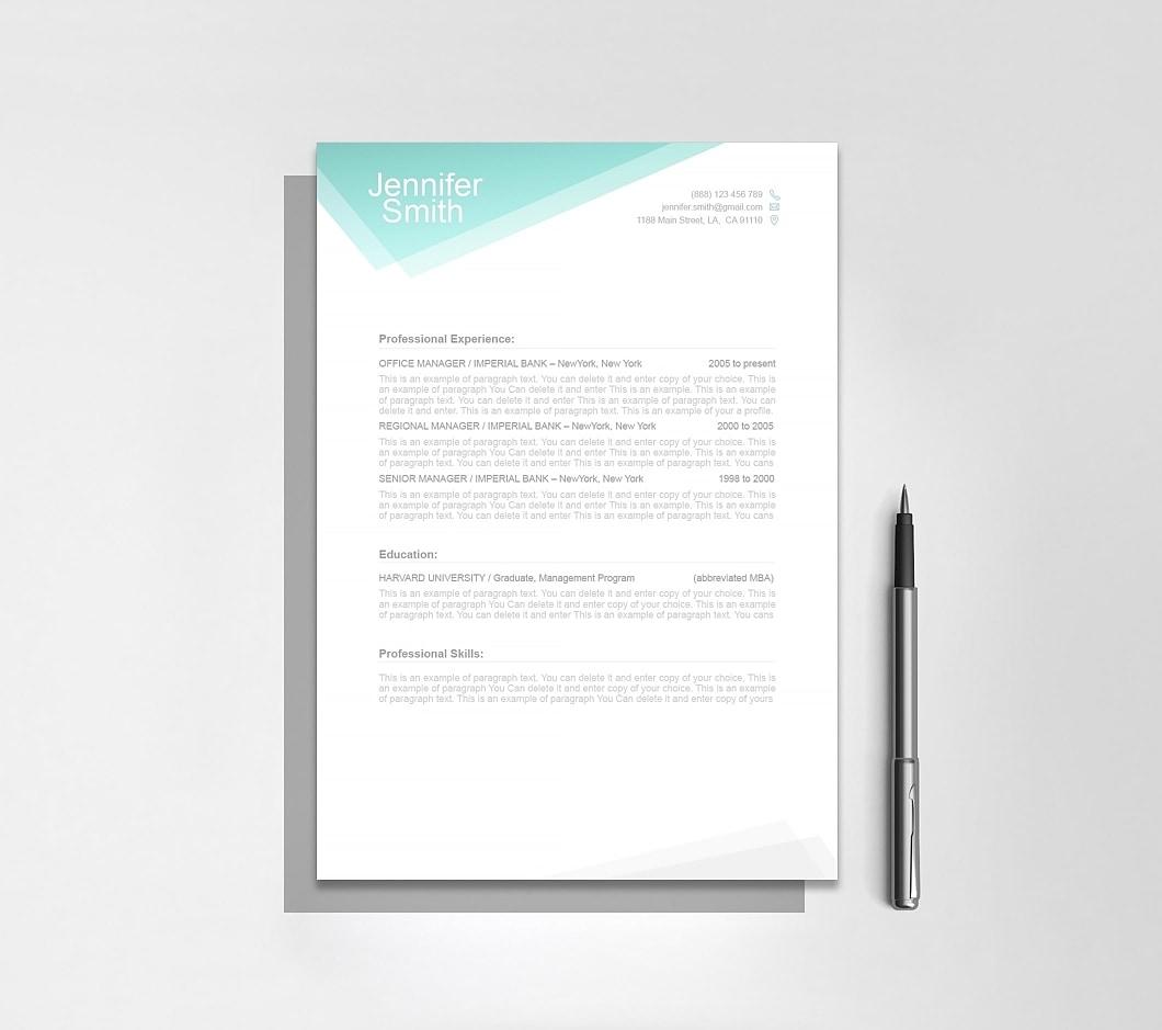 Resumeway Free Resume Template 1100020