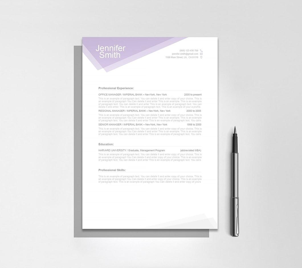 Resumeway Free Resume Template 1100030